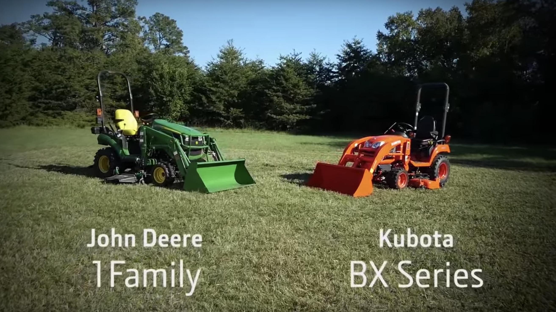 John Deere 1 Series tractors vs Kubota BX